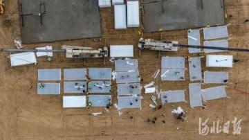 石家荘で新型コロナ濃厚接触者向けの集団隔離臨時施設が急ピッチで建設中―中国
