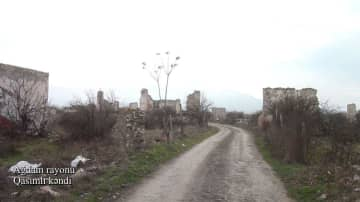 Azerbaijan shows video footage from Gasimli village of Aghdam district