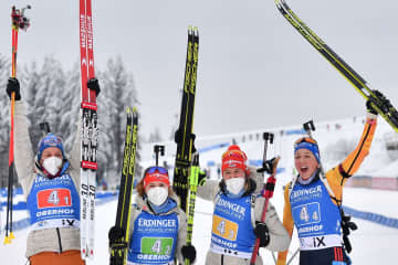German women get biathlon relay home win in Oberhof