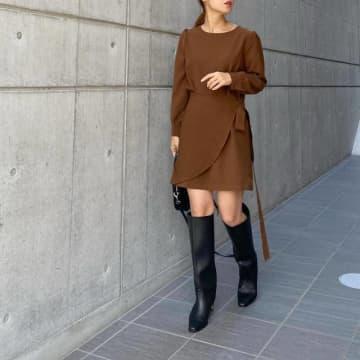 ロングブーツ×スカート・ワンピースの合わせ方講座【最旬おしゃれな足元コーデ】