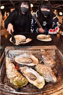 東北産カキ食べて被災地支援 前橋で「牡蠣奉行」