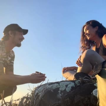 Joel Kinnaman and Kelly Gale engaged