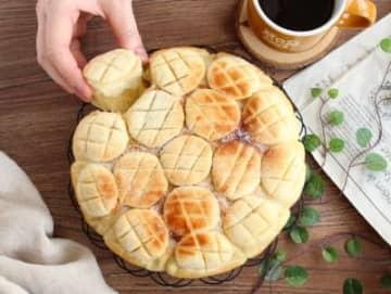 オーブンがなくても焼ける♪可愛いちぎりメロンパン