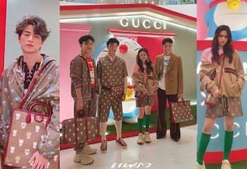 Thai stars don Gucci's new Doraemon collection