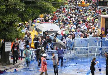 タイ反体制デモ、「休戦」状態に