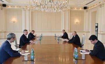 President Aliyev receives French Minister