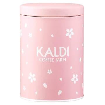 【カルディ】桜柄のキャニスター缶が可愛い~。オンライン限定で早い者勝ちだよ!