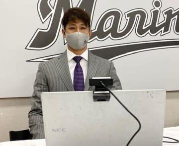 <千葉ロッテ>福田秀、1億2千万円でサイン 「勝ちに貢献したい」