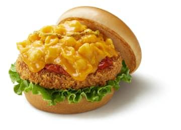 モスバーガー新作は熱々のチーズがこぼれる「マッケンチーズ&コロッケ」 画像