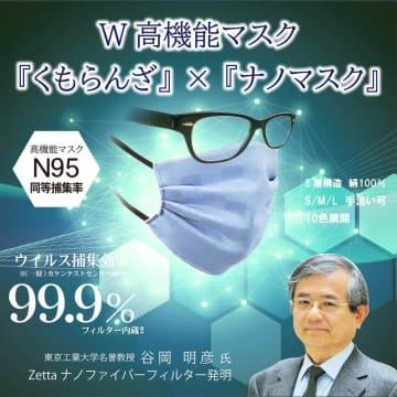不織布を超える高性能「ナノファイバーフィルター」内蔵の眼鏡が曇りにくいシルクマスクを新発売