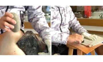 割っただけなのに「黒曜石」の切れ味がすごい…肉や野菜も簡単に切れる?投稿者に聞いた 画像