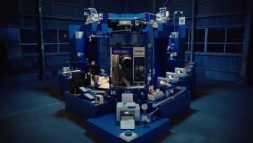 """自社製品を用いた総重量3.5トンの""""巨大からくり装置""""が壮大…何回目で成功?ブラザー工業に聞いた 画像"""