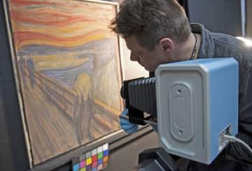 「叫び」落書きの主はムンク本人 ノルウェーの美術館、赤外線解析 画像