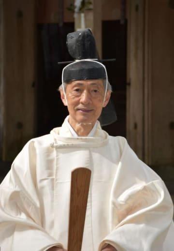長老の称号を贈られた高千穂神社の後藤俊彦宮司