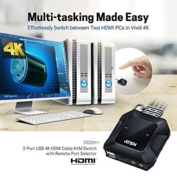 2ポートUSB HDMIケーブルKVMスイッチ「CS22H」発売、ATENジャパンから 画像