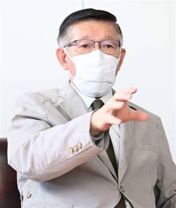 4期目への抱負を語る佐竹知事=秋田市川尻町の事務所