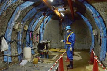 「幌延深地層研究センター」の深さ350mの調査坑道=2020年、北海道幌延町