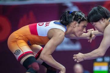 躍進するインド女子。シーマがどこまで上位に進出するか=撮影・保高幸子