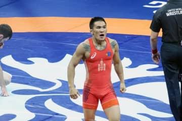 階級を下げて挑むツブシンツルガ・ツメンビレグ(モンゴル)=20118年世界選手権