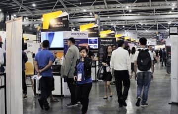 シンガポール会議・展示会協会は、MICE業界で新たな認証制度を導入する(写真は2019年に開催されたシンガポール・フィンテック・フェスティバルの会場、NNA撮影)