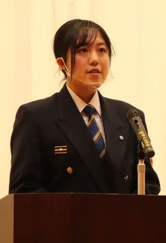 最優秀賞に選ばれた長崎市消防局の藏園さん=平戸市、たびら活性化施設