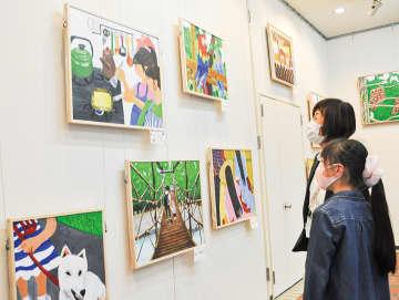 アトリエ一番坂 1年半ぶり展覧会に笑顔 子どもたちの作品並ぶ 川崎市麻生区