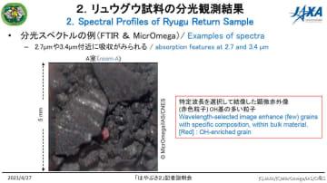 ニュース画像:JAXA、はやぶさ2が持ち帰ったサンプルから水や有機物に関する特徴を確認