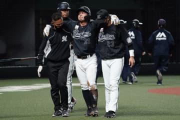 ロッテ、田村は左太もも裏肉離れと診断…走塁時に負傷 谷川は椎間板ヘルニア手術