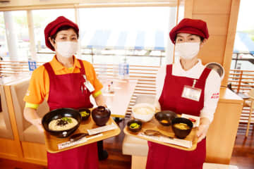 キッチンTAKOで2種類のモーニングメニューが提供されている=多古町の道の駅多古あじさい館