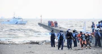 過去にも死亡事故が発生している「幕張の浜」(写真は昨年9月の水難事故発生時の様子)