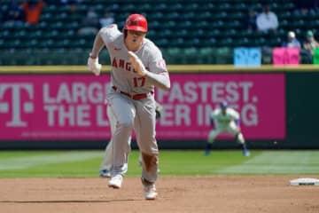 自身初の1試合2盗塁をマークしたエンゼルス・大谷翔平【写真:AP】