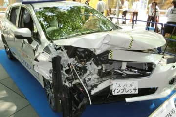 名古屋走りが原因? 愛知県が2017年の死亡事故ワースト1位 ※画像はイメージです(衝突実験に使ったスバル インプレッサ)