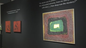 草間彌生さんの未公開作品 オークション前にアメリカで一般公開 画像