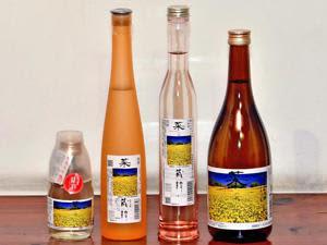 ラベルに三ノ倉高原・菜の花畑の写真を使った限定商品