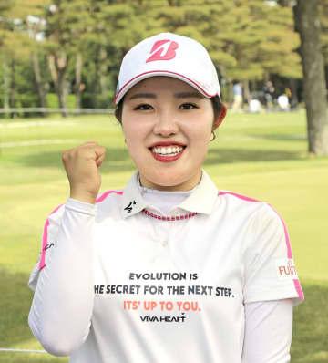 女子ゴルフのワールド・サロンパス・カップで四大大会初制覇に挑む古江彩佳=4日、茨城県茨城GC(大会提供)