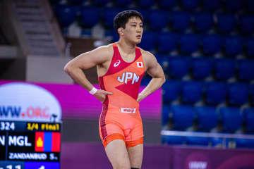 74kg級の初の国際大会は初戦敗退だった乙黒圭祐(自衛隊)=撮影・保高幸子<UWW>