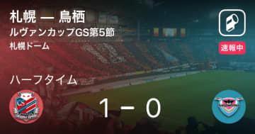 【速報中】札幌vs鳥栖は、札幌が1点リードで前半を折り返す
