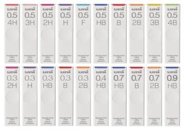 三菱鉛筆「uni」4H~4Bの計20種類に ラインアップ拡充 画像