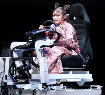 井上咲楽 あおり運転をシミュレーターで体験「トラウマで一生車乗れない」 画像