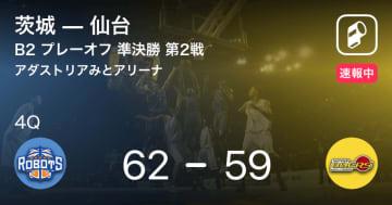 【速報中】3Q終了し茨城が仙台に3点リード