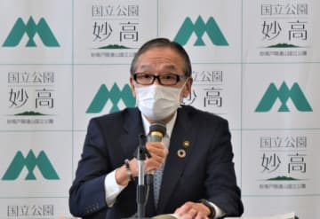 新潟県妙高市の入村明市長が定例記者会見、「65歳以上は7月中に接種完了の予定」