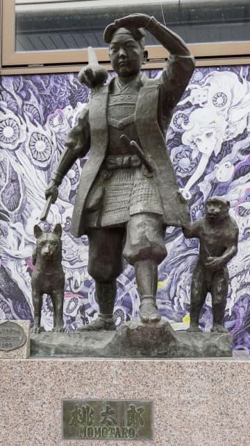 ニュース画像:岡山の初代桃太郎像、再デビュー JR駅から空港のシンボルに