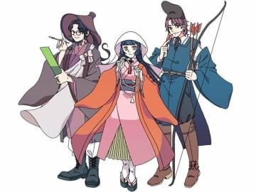 京都市西京区役所洛西支所が製作したキャラクター。左からさい君、お玉ちゃん、なり様