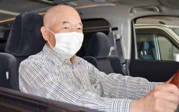 ちょいボラ交通のドライバーとなった「フル免許」取得者の山岸輝夫さん=福井県鯖江市西山町