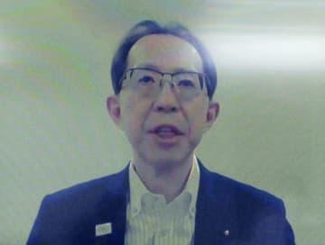 政府の復興推進委員会にオンラインで参加した内堀雅雄福島県知事=11日午後