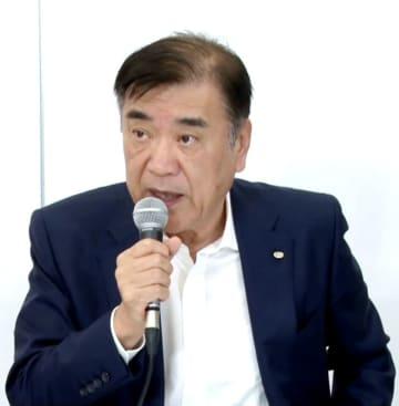 オンライン説明会で話すHISの沢田秀雄会長兼社長=11日