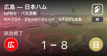 【NPBセ・パ交流戦3回戦】日本ハムが広島に大きく点差をつけて勝利 画像