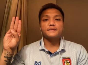 ミャンマー選手、帰国拒否 国軍への3本指抗議で 画像