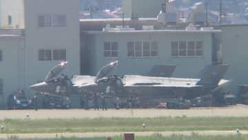 ニュース画像:F―35A小松空港に着陸 市長ら視察