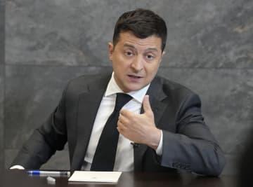 ウクライナのゼレンスキー大統領(AP=共同)